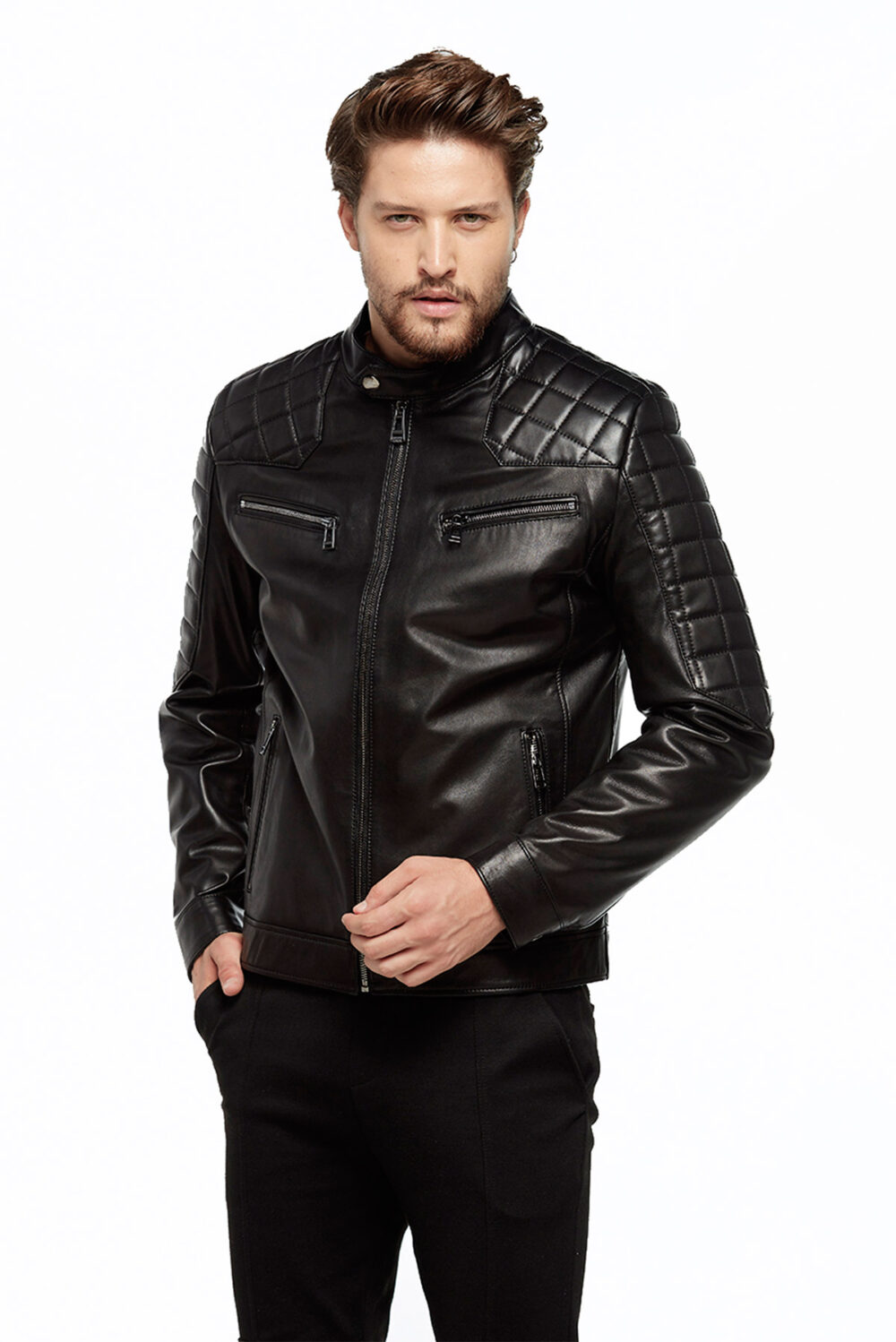 big size leather jackets