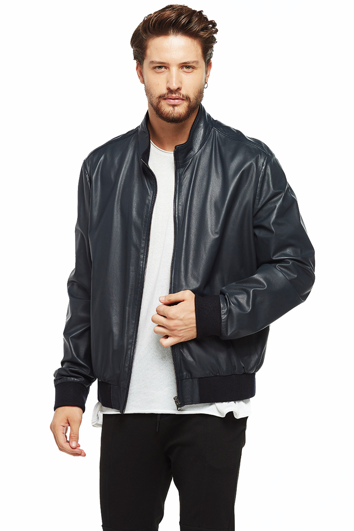 real leather jacket real