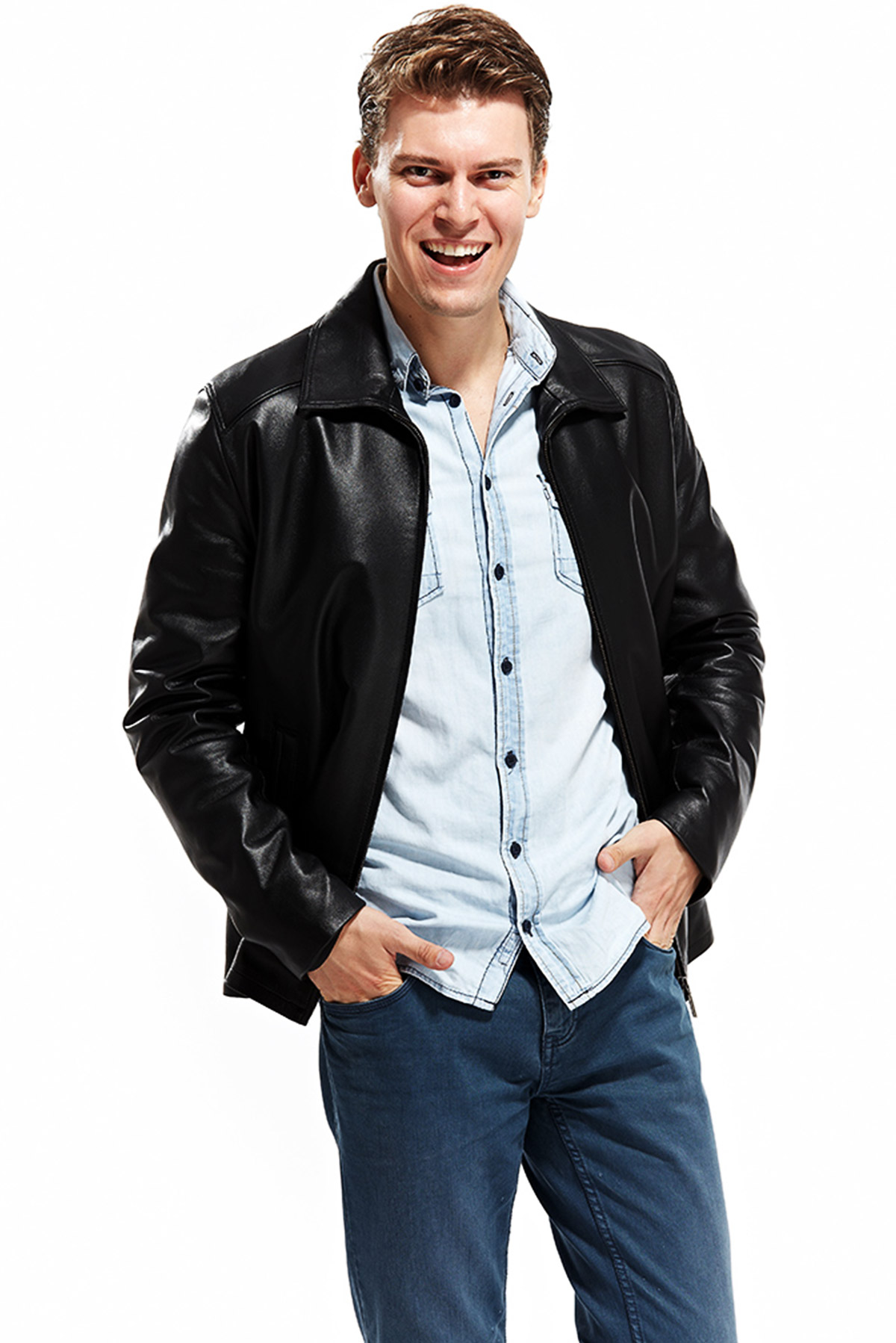 mens leather coat sale