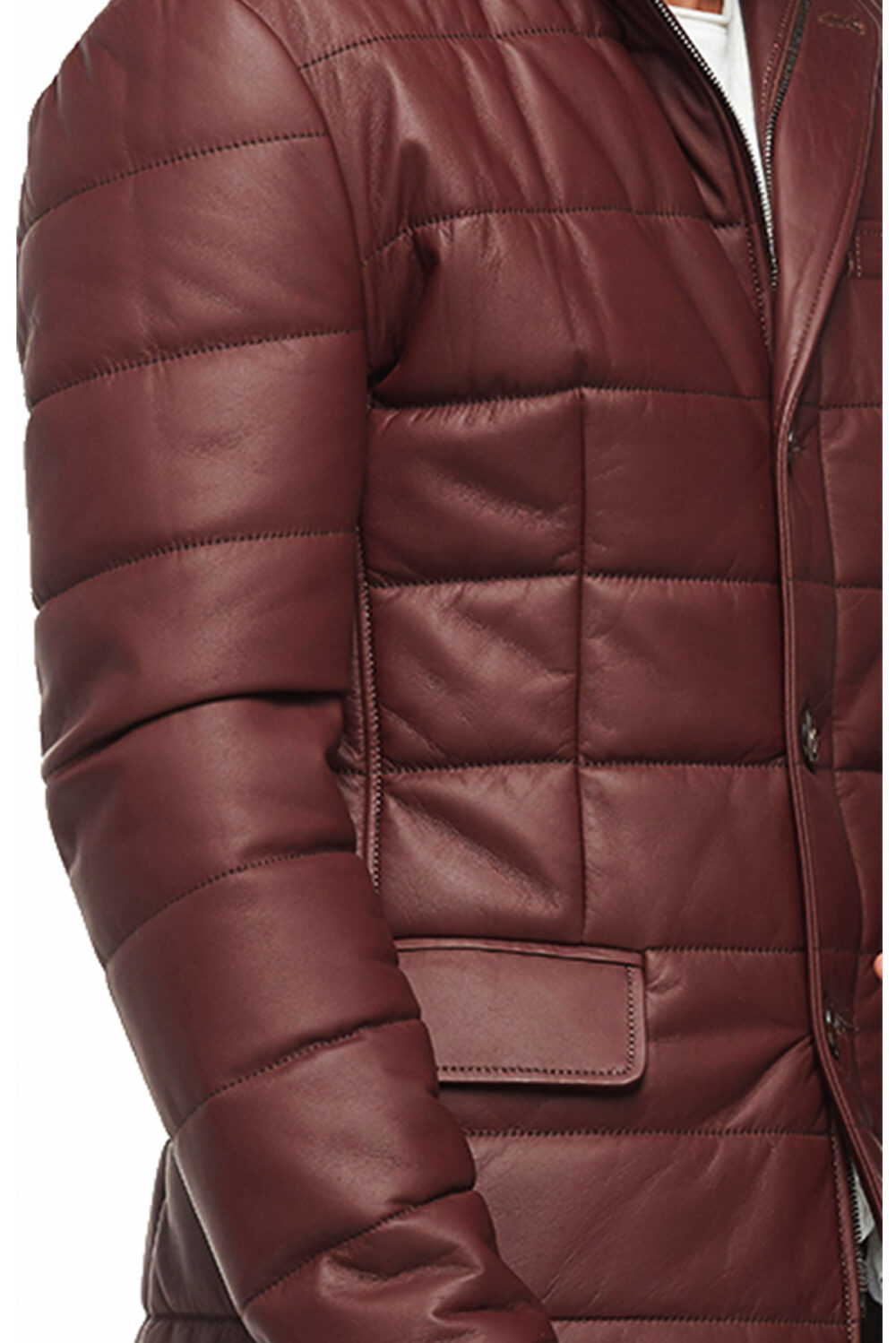 mens thick leather jacket