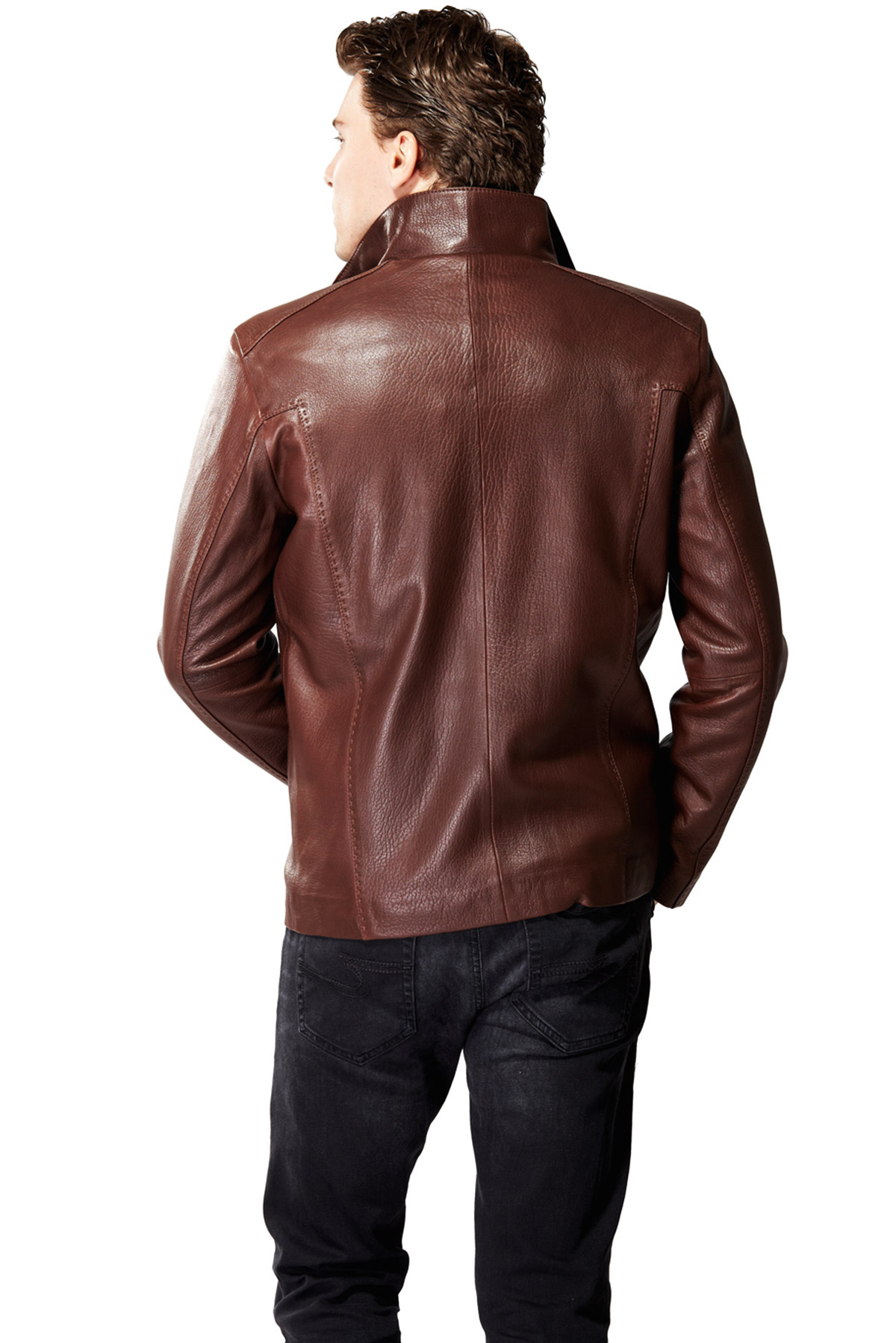 leather blazer mens