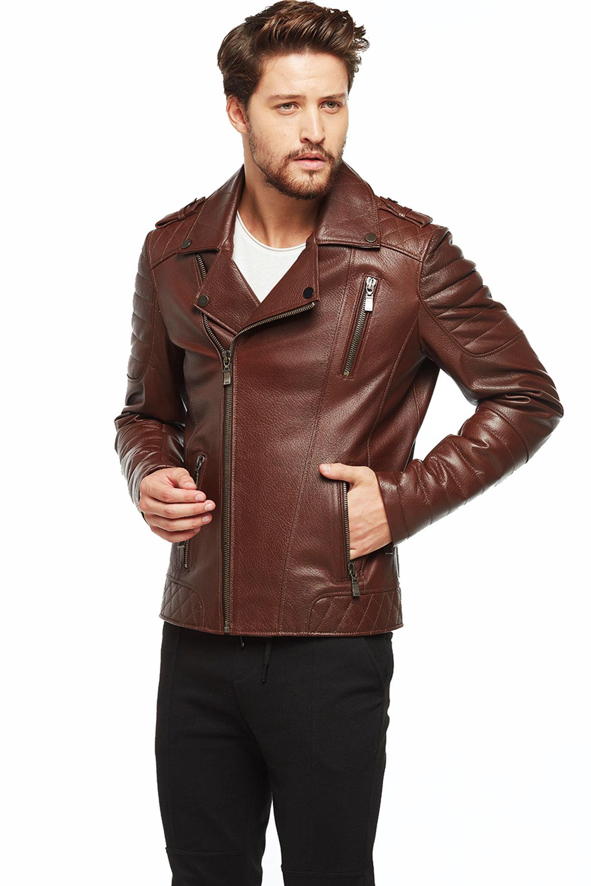 best brando brown motorcycle leather jacket