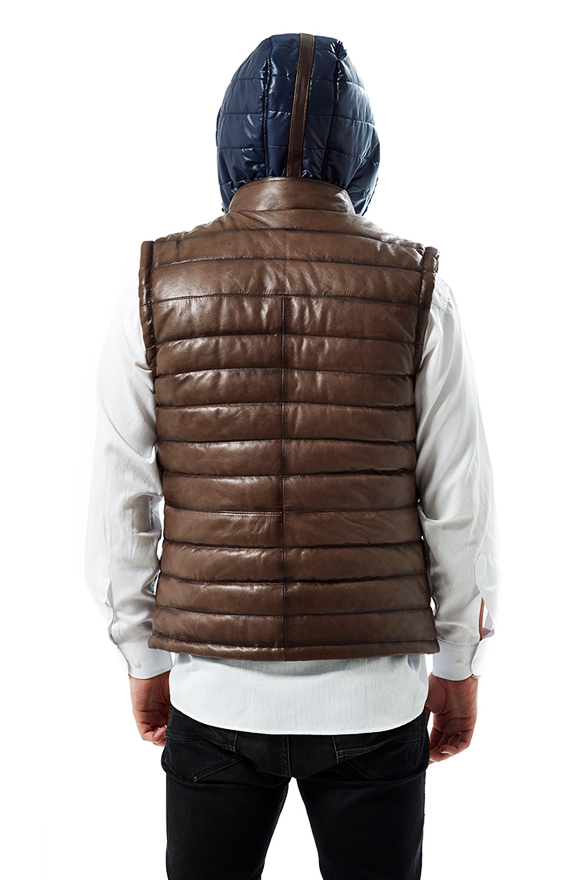 Zurraco Double Face Tobacco Brown Puffer Vest