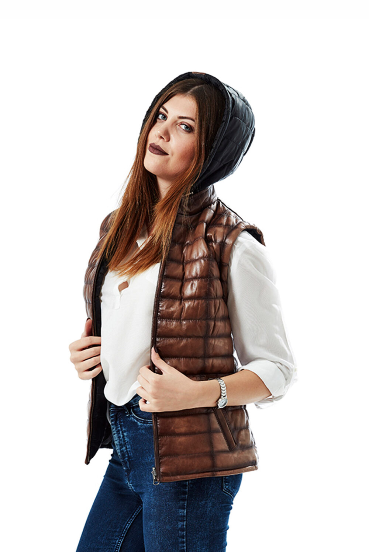 leather waist jacket
