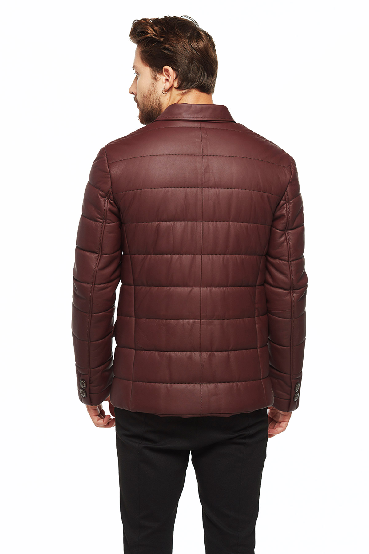 quilted leather coat