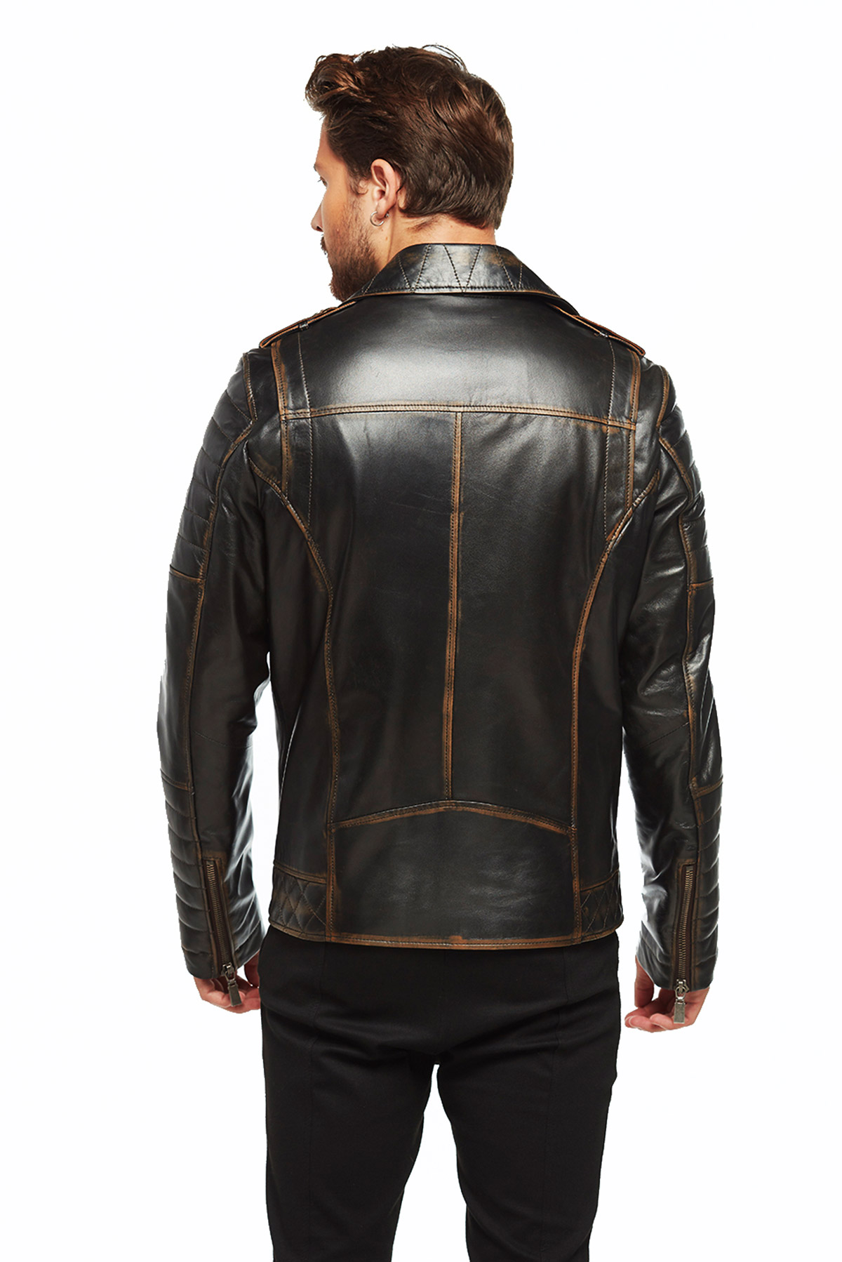genuine leather harley davidson jacket