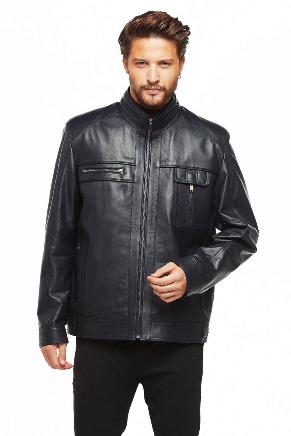 winter leather jacket mens