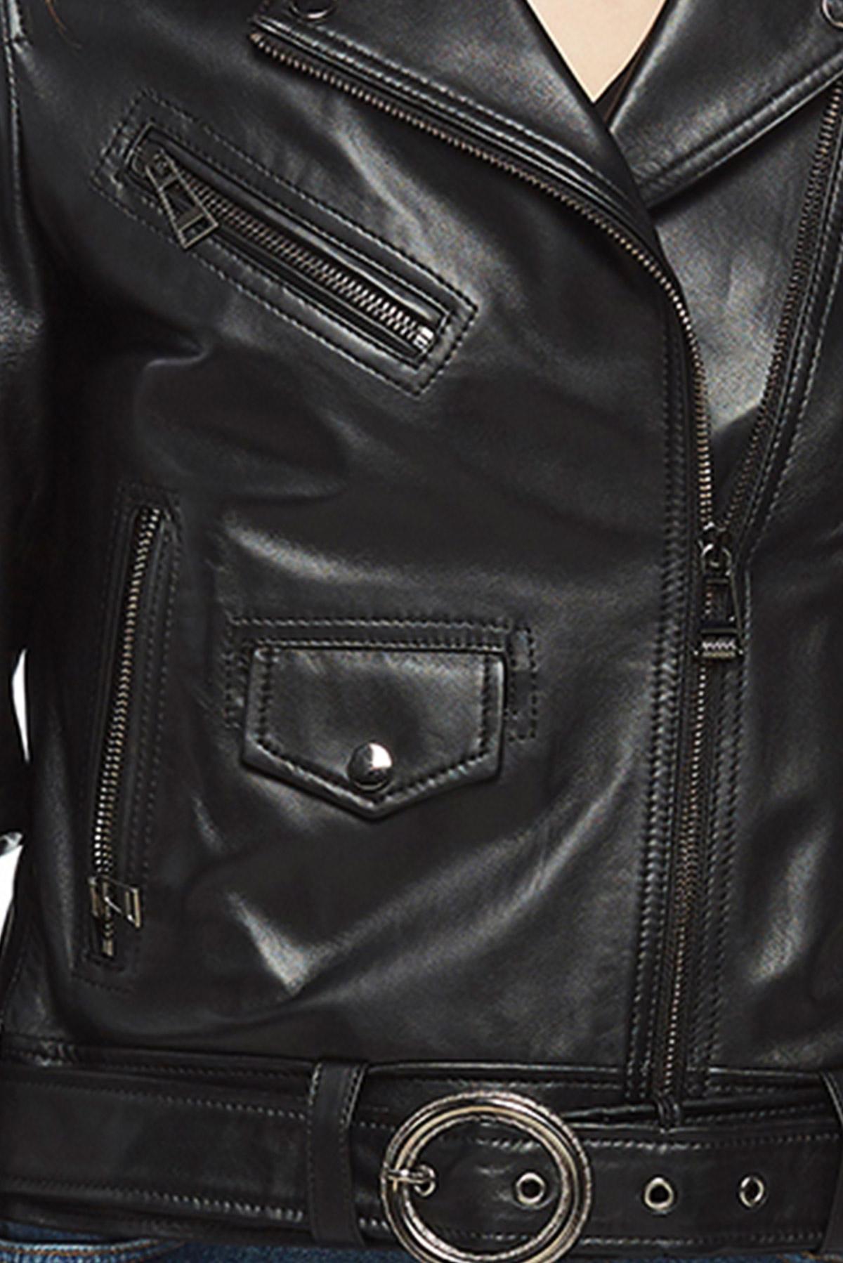 real black leather jacket