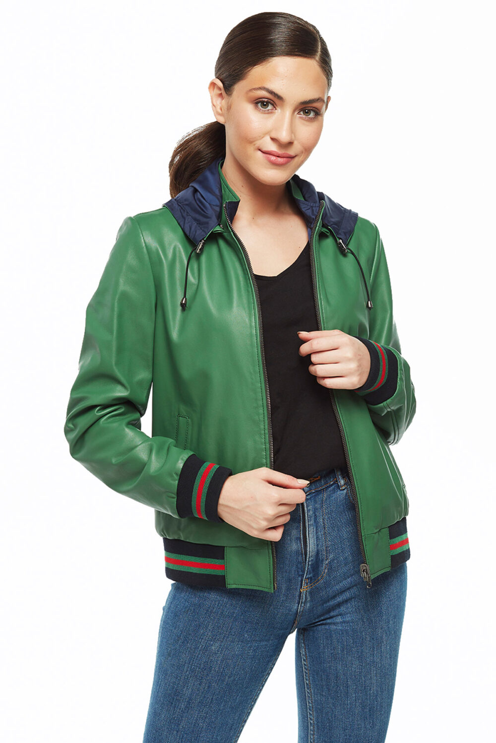 stylish field leather jacket