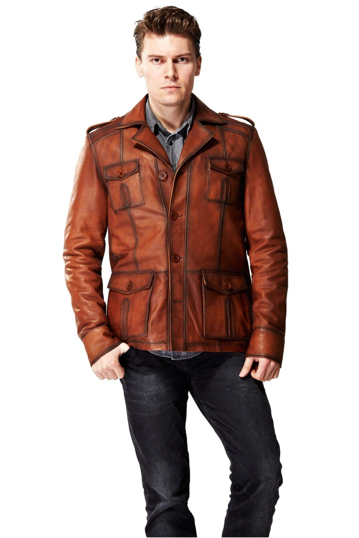vintage leather bomber jacket mens