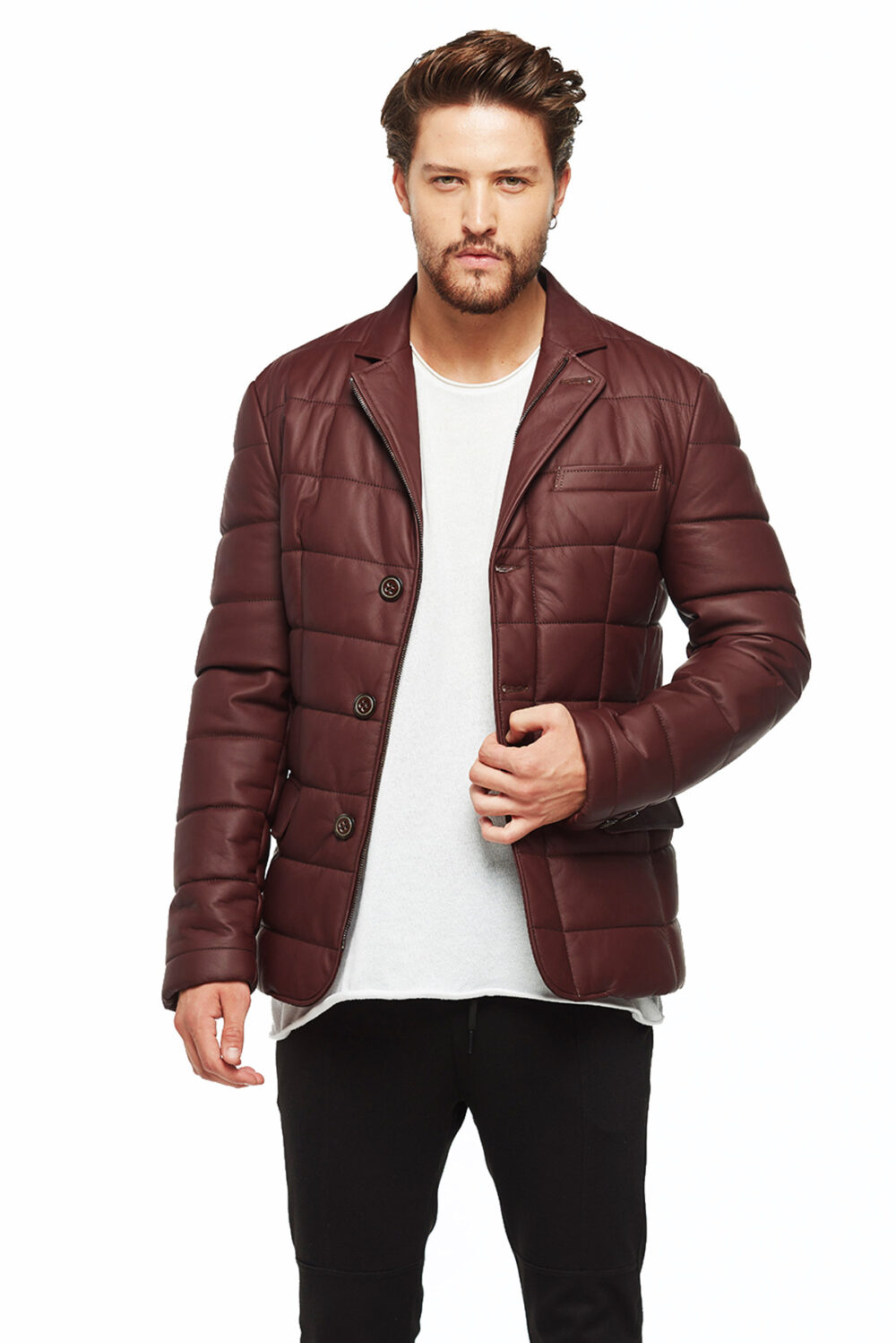 dockers leather jacket mens