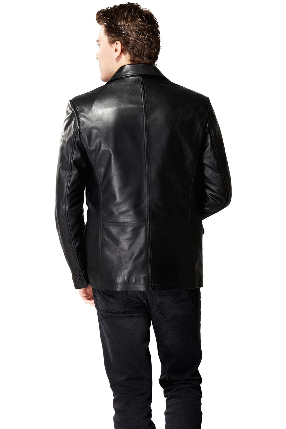 mens leather winter coat