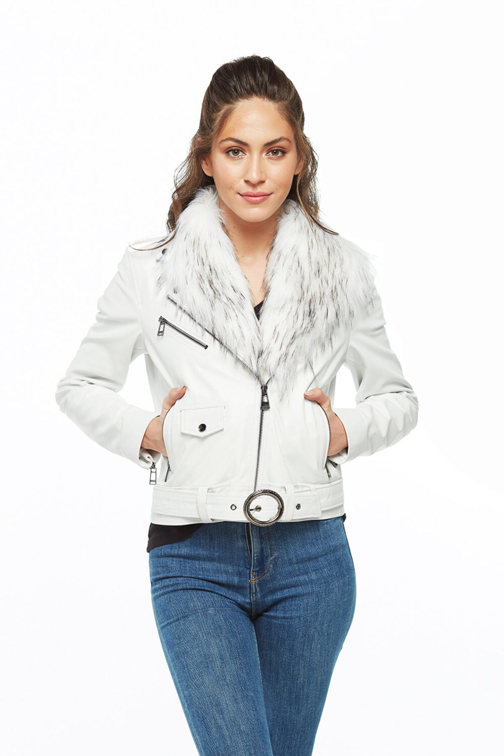 real leather aviator jacket womens
