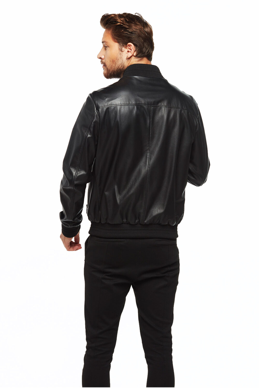 The Nerd Bomber Double Face Leather Jacket