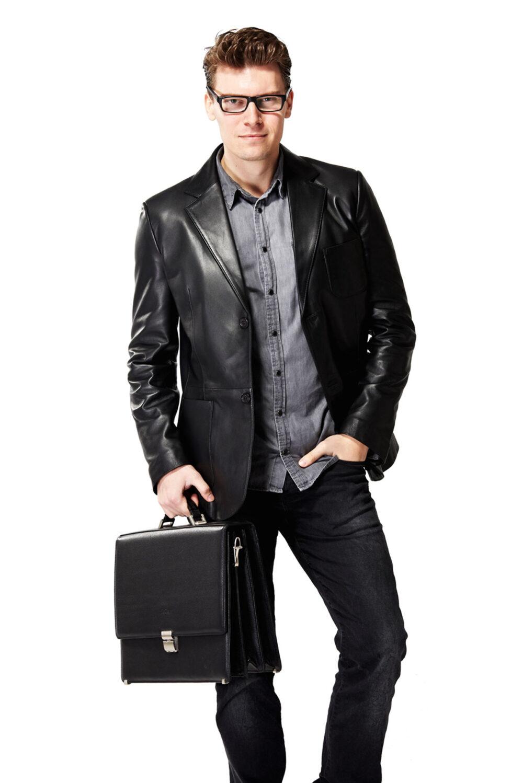3 4 length leather coats
