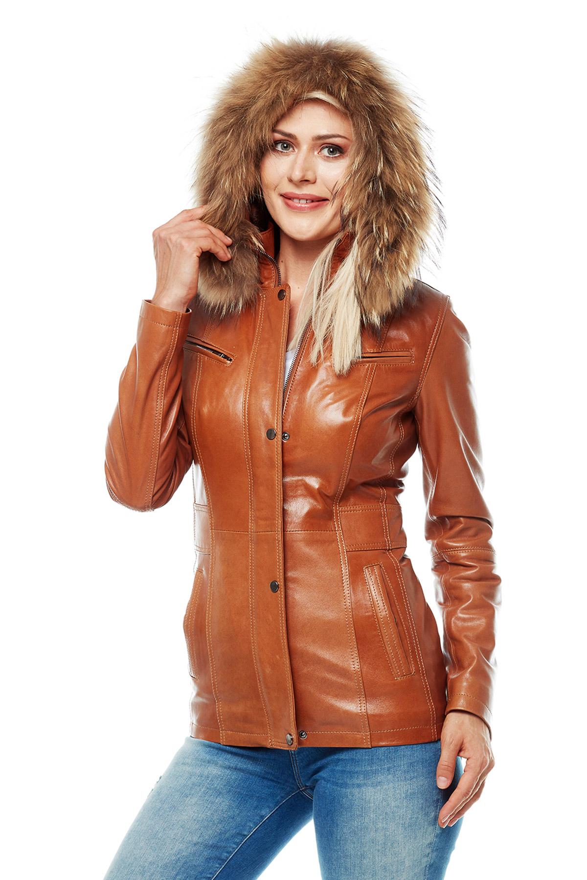 genuine leather jacket brown