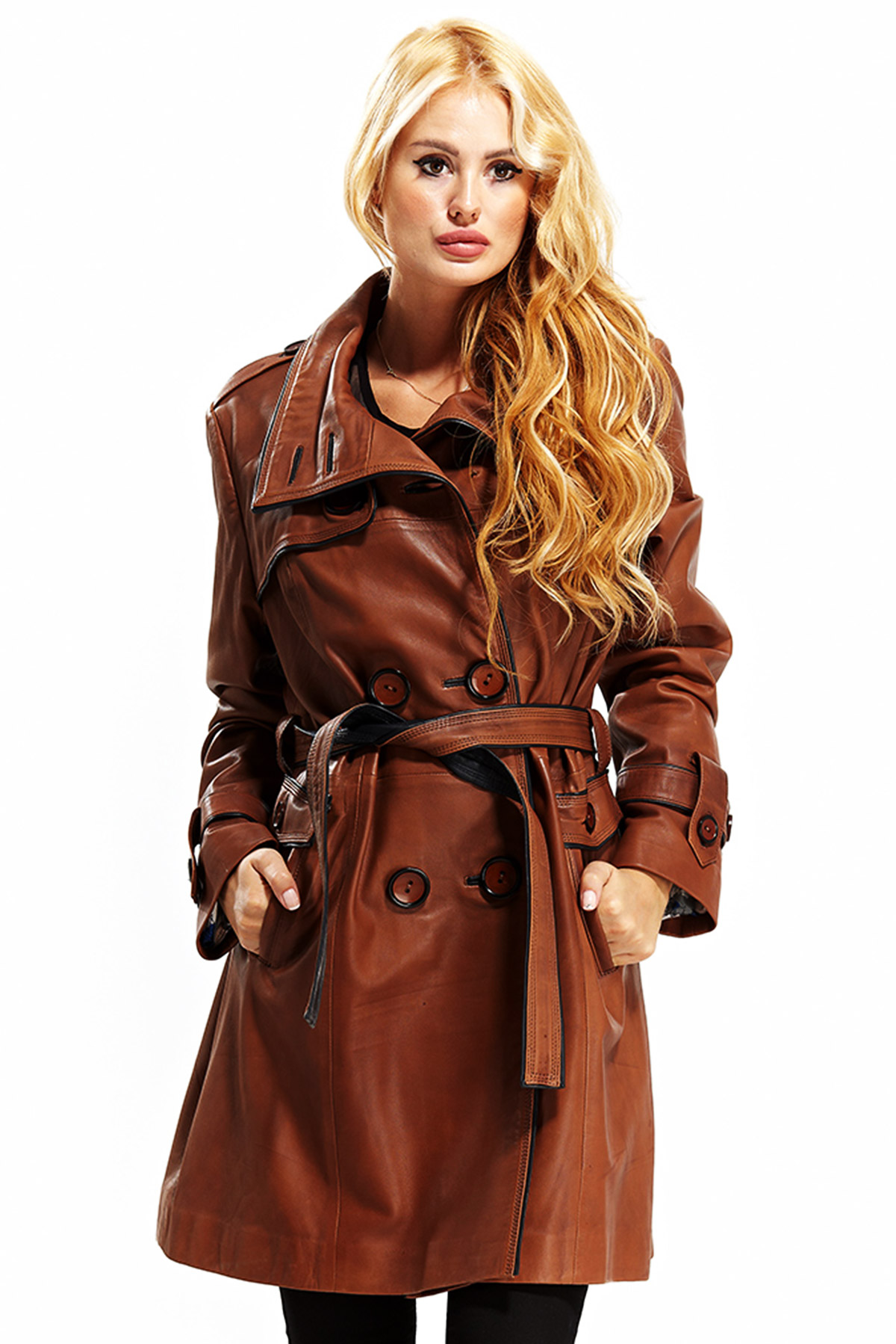 brown leather jacket women's outfit