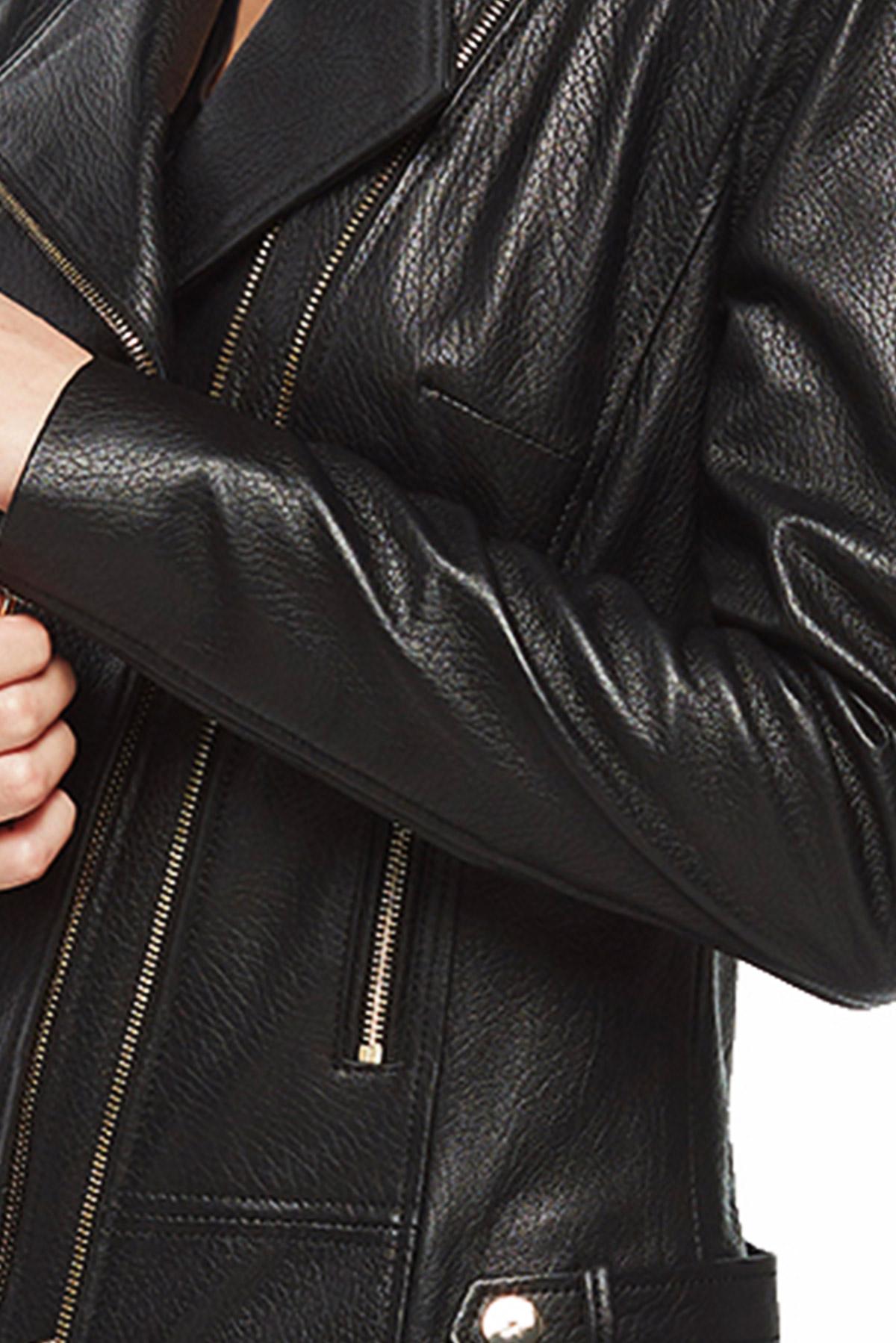 teal leather jacket