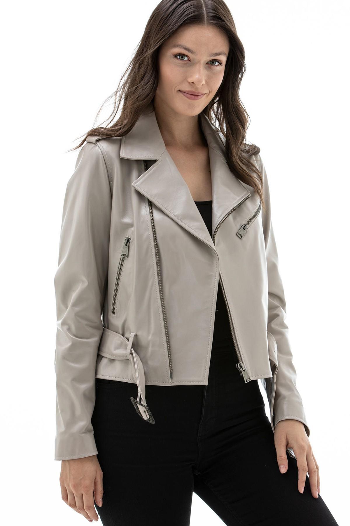 Lambskin Leather Jacket Womens