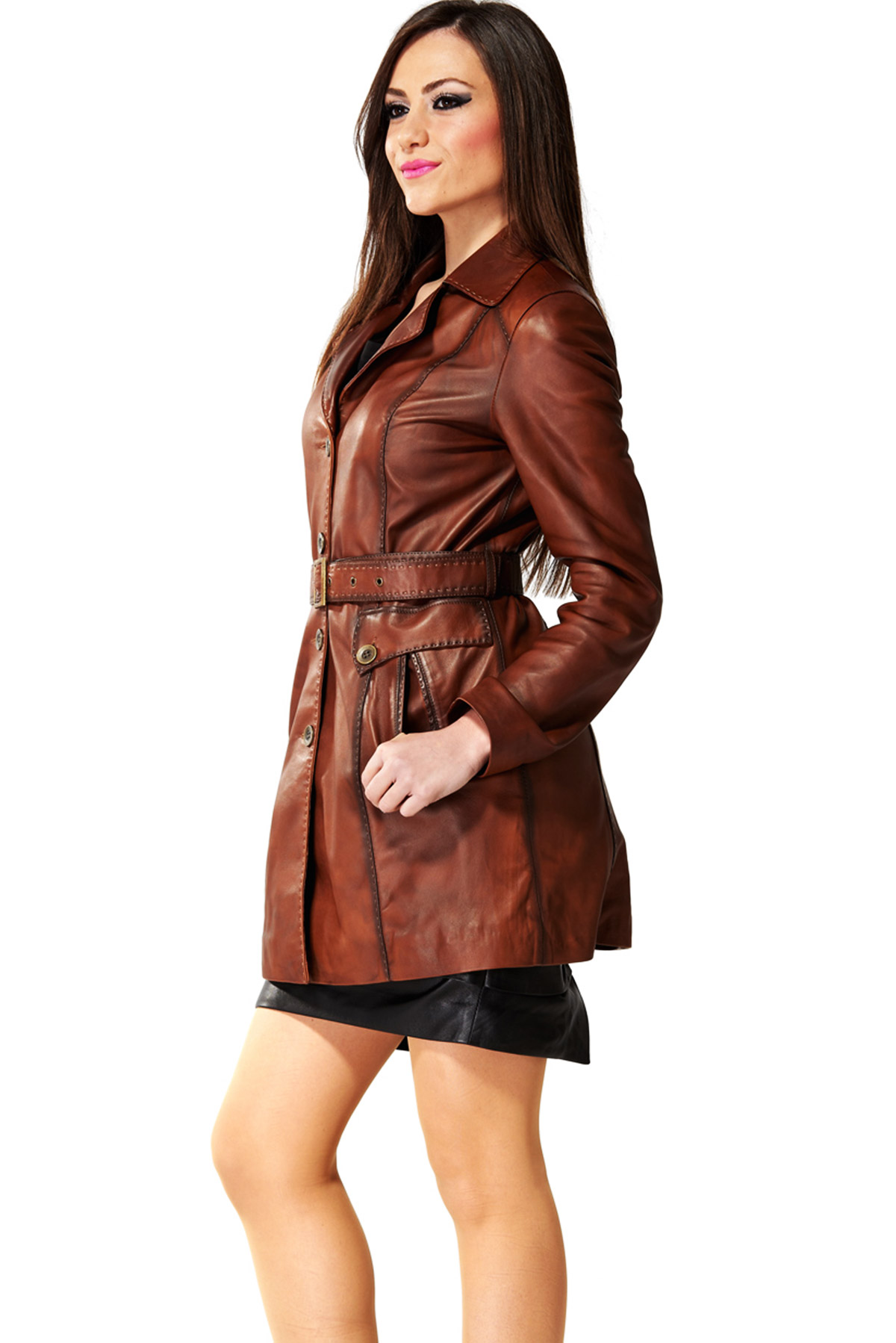 leather winter coats