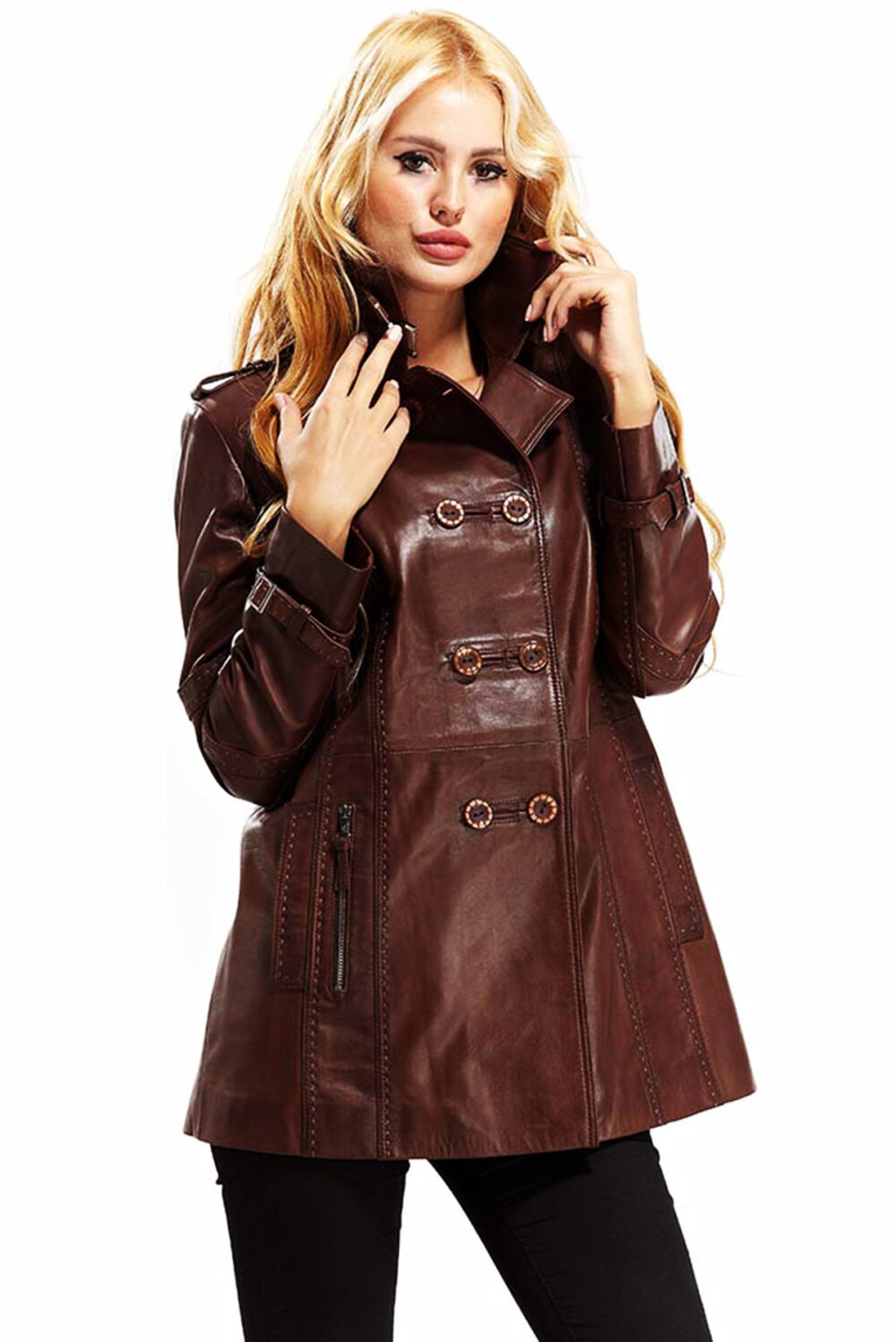 thin leather jacket womens