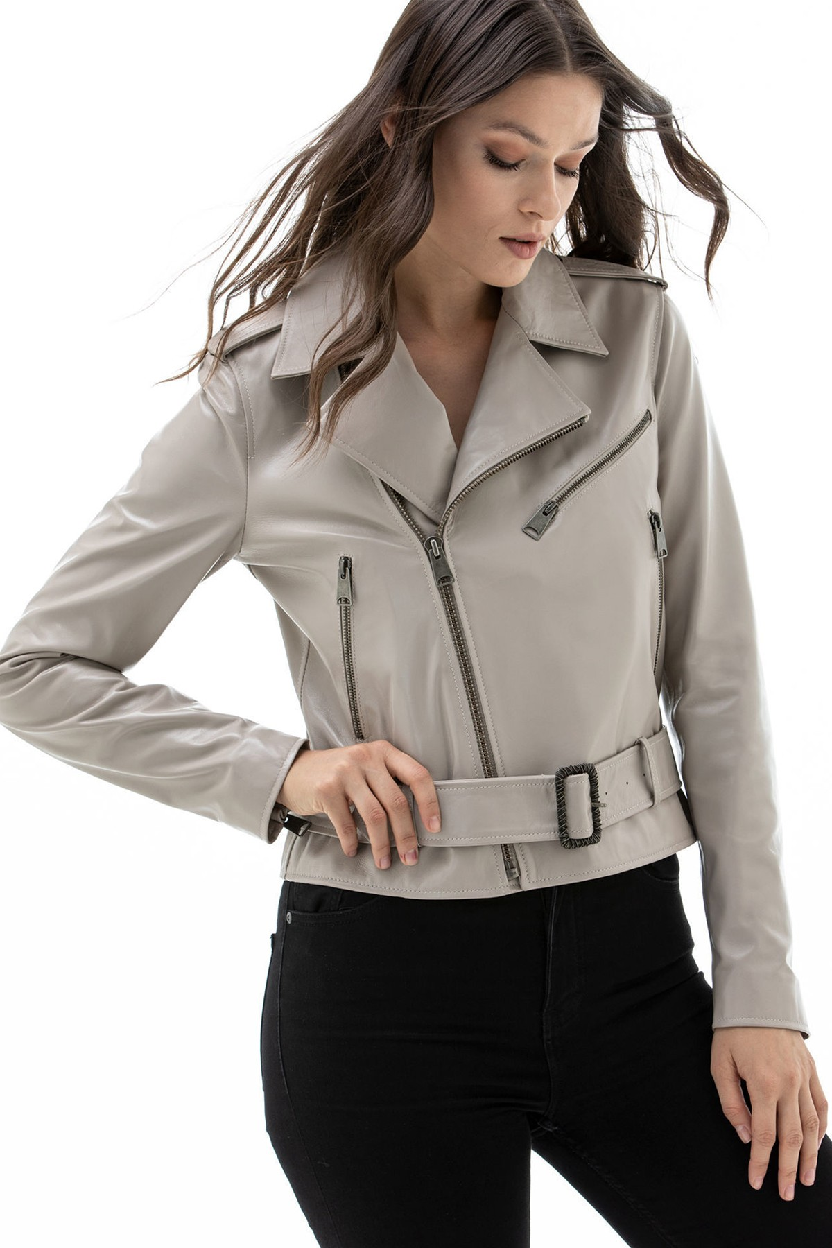 Leather Blazer Womens