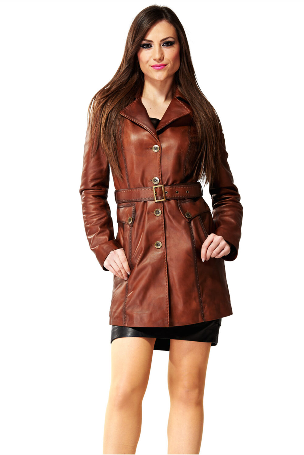 distressed leather jacket womens