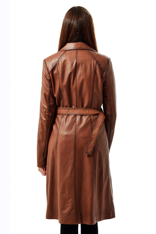burgundy leather coat