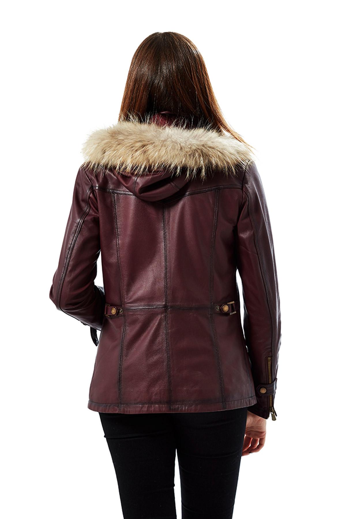 oxblood leather jacket womens