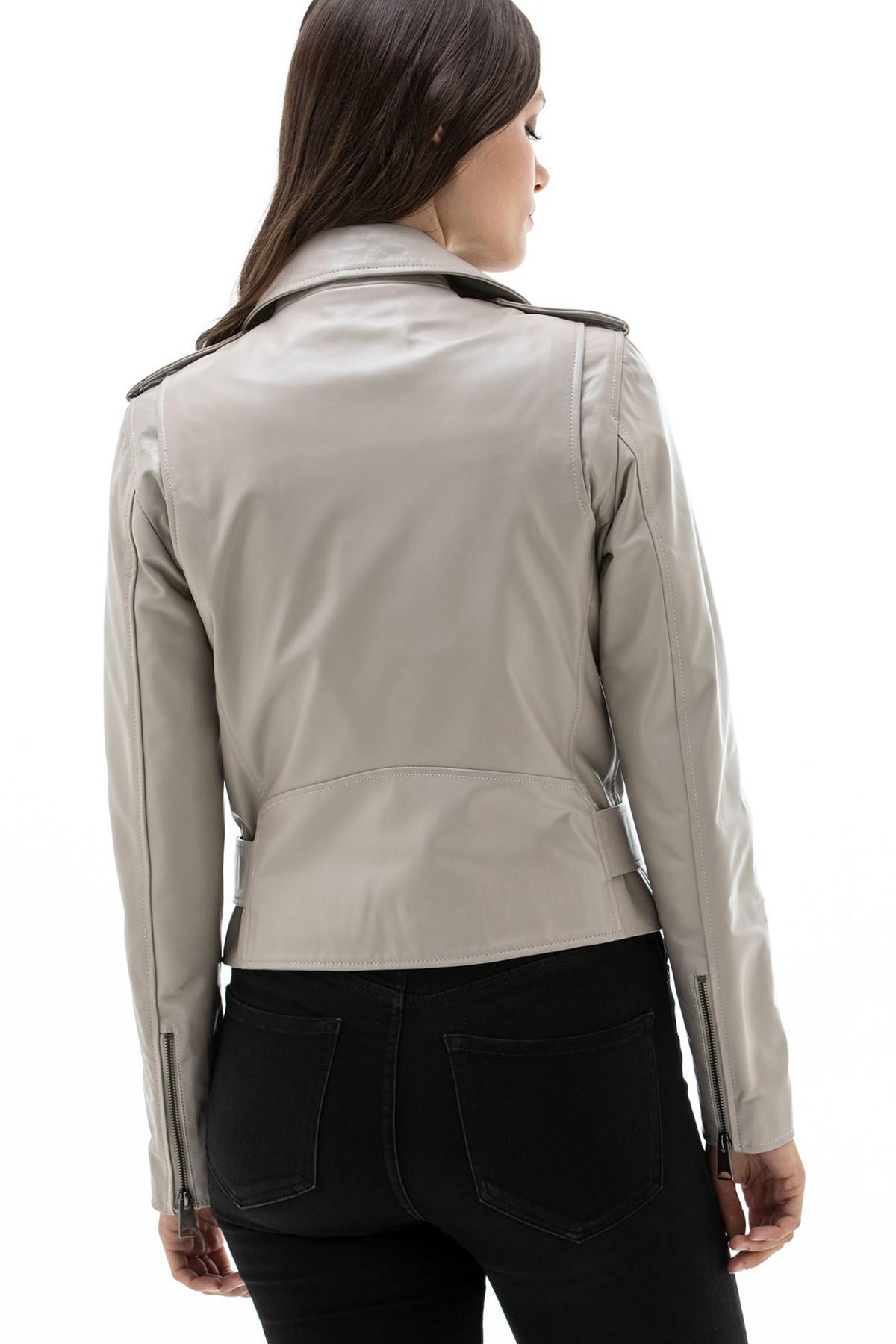 Leather Aviator Jacket Womens