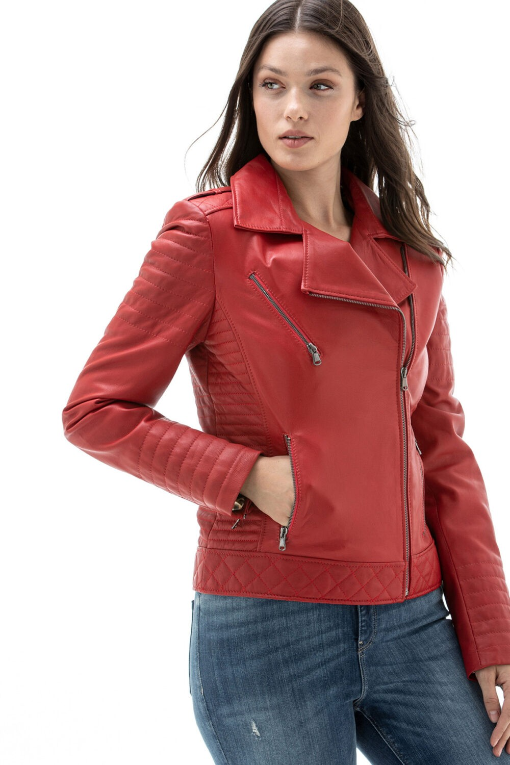 Paul Smith Red Leather Jacket