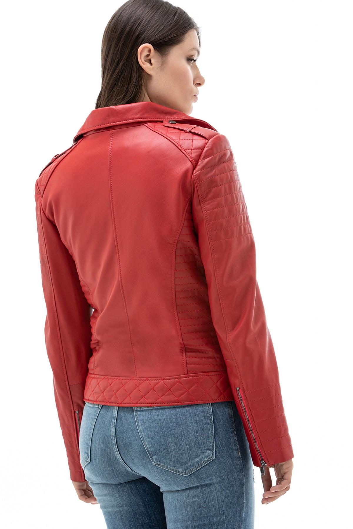 Dark Red Leather Jacket