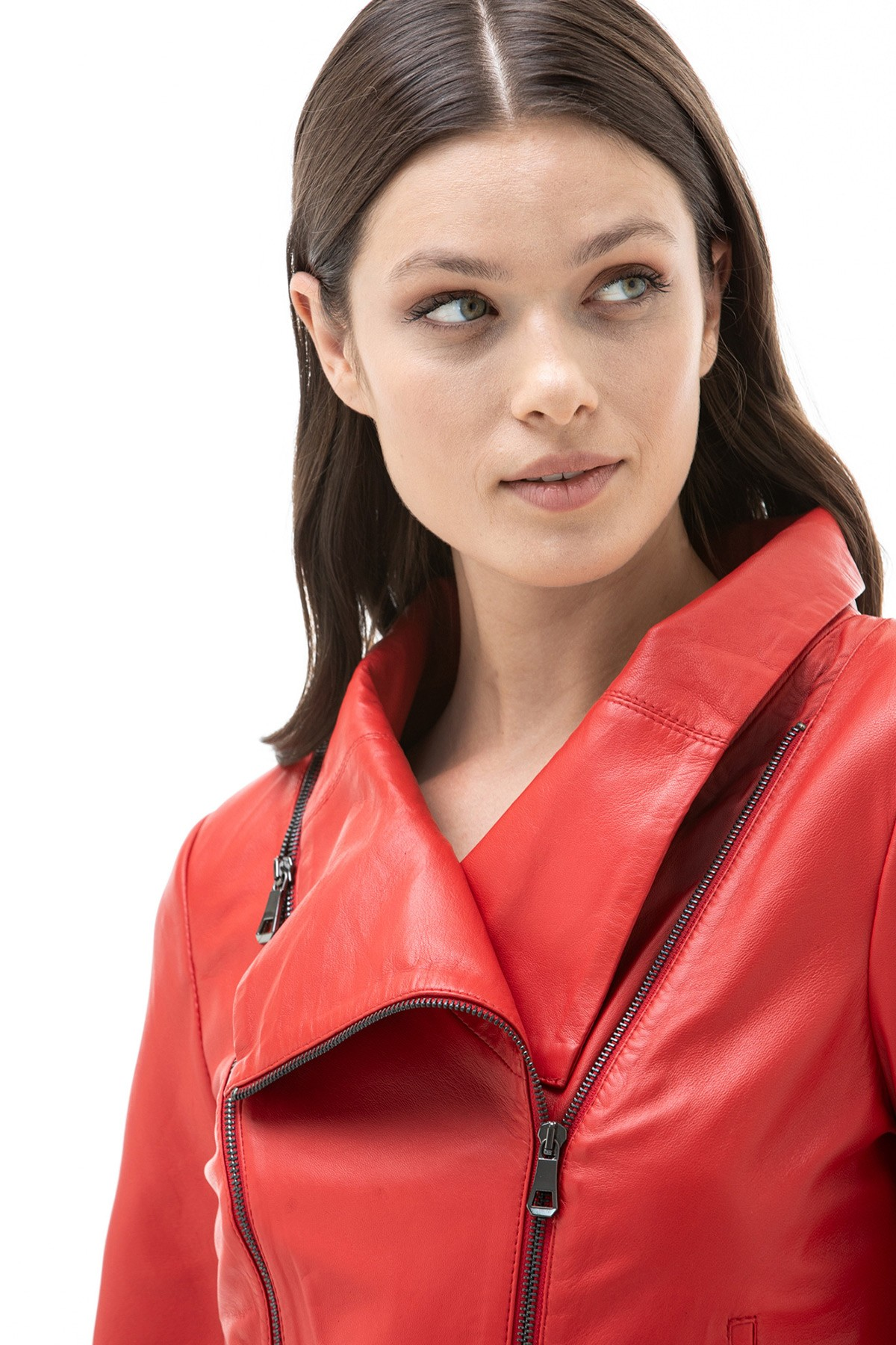 Real Red Leather Jacket
