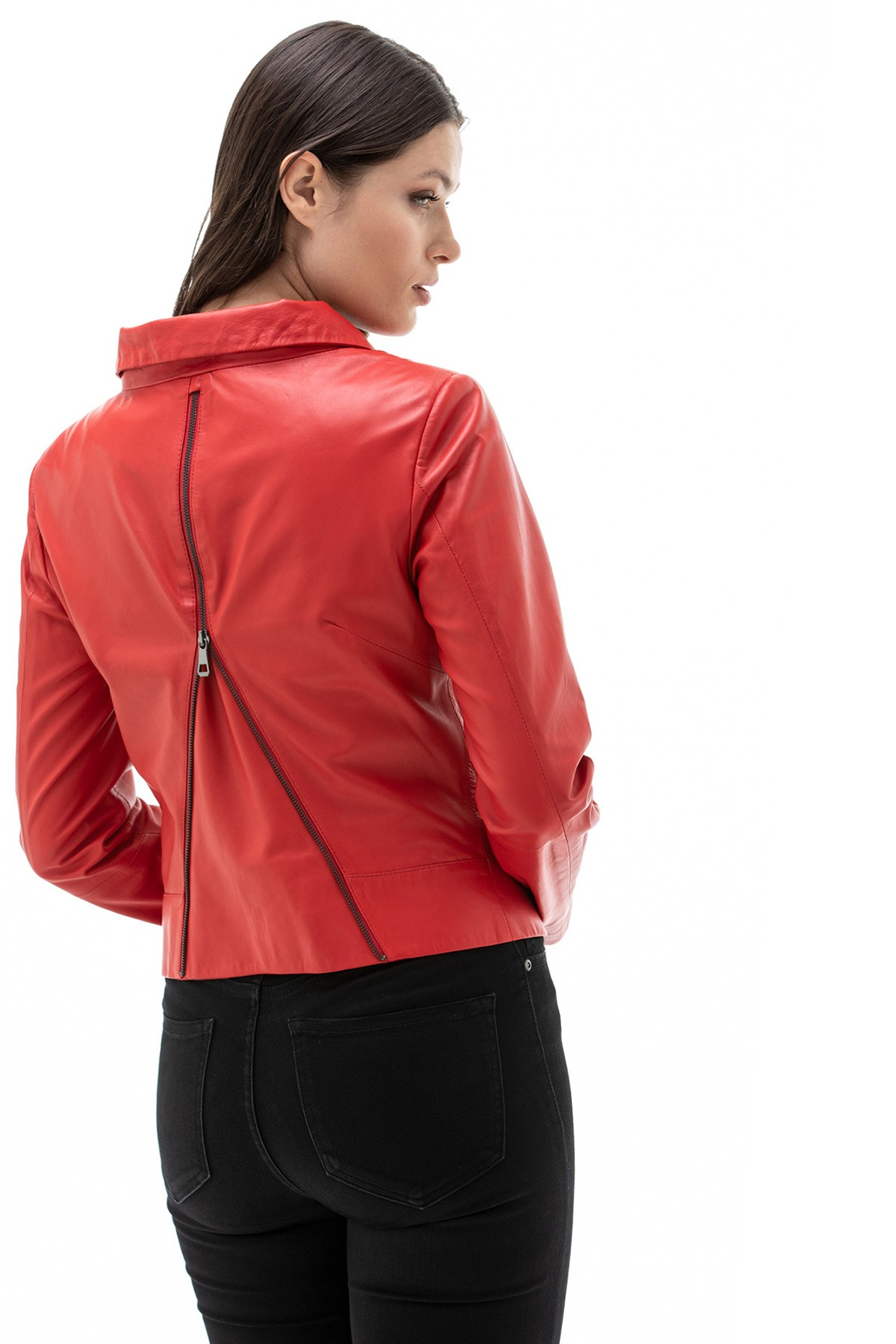 Red Leather Jacket Cheap