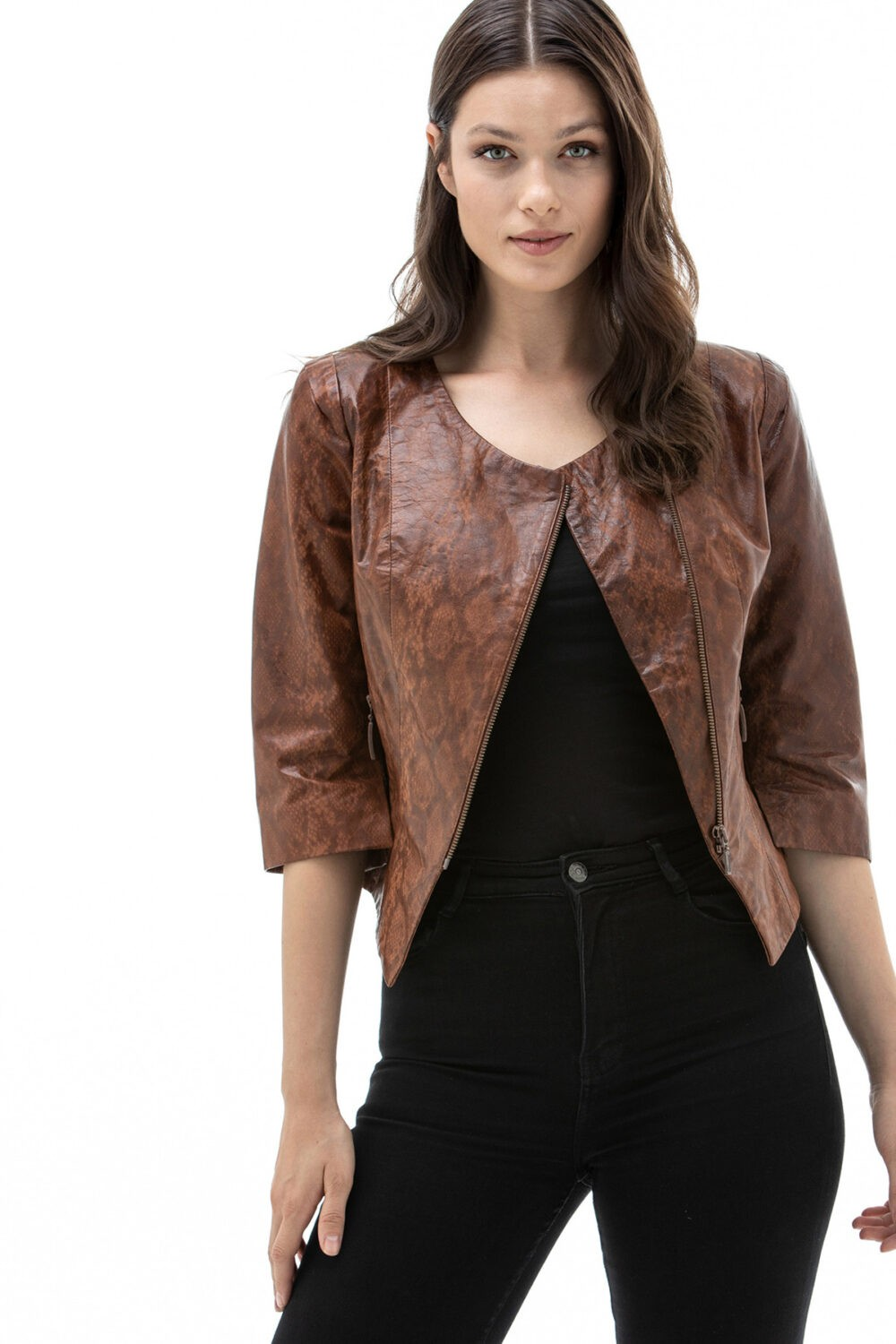 Leather Parka Womens