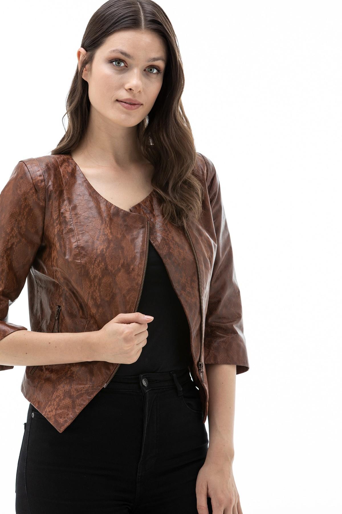 Loewe Brown Leather Jacket