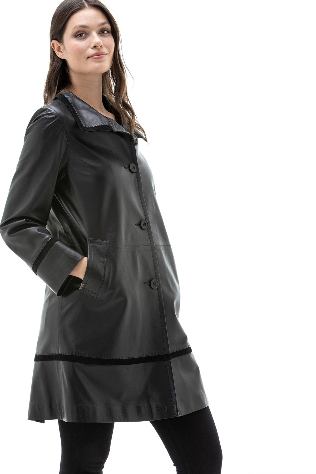 leather coats for women
