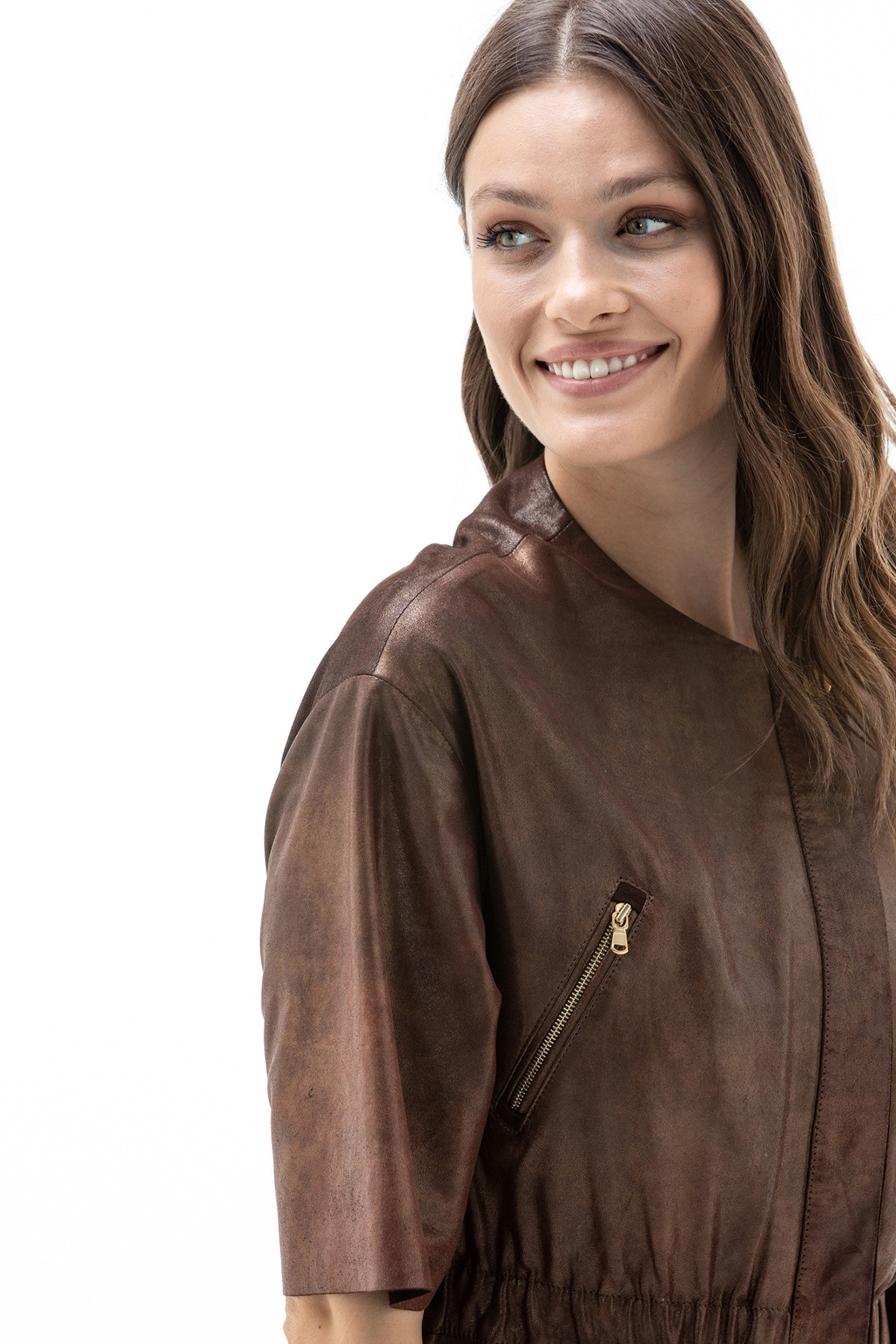 Womens Leather Jackets Brown