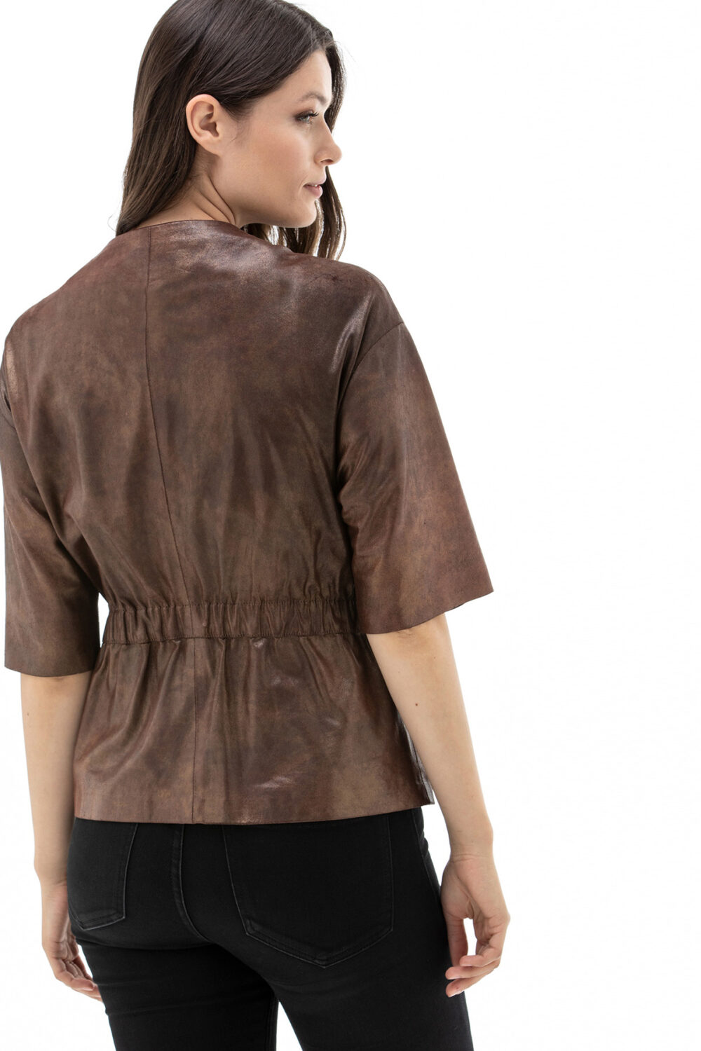 Chocolate Brown Leather Jacket Womens