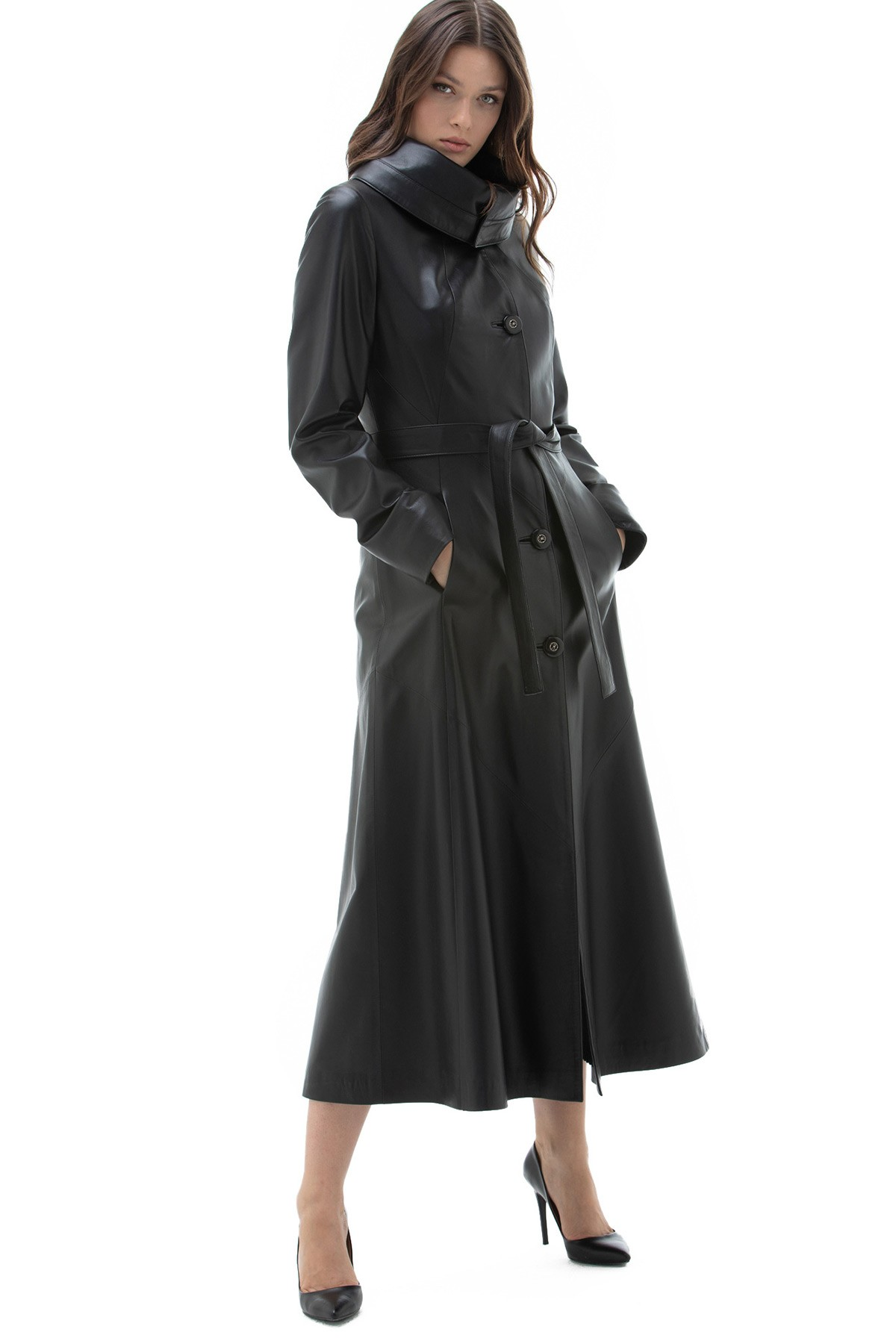 Long Leather Jacket Womens