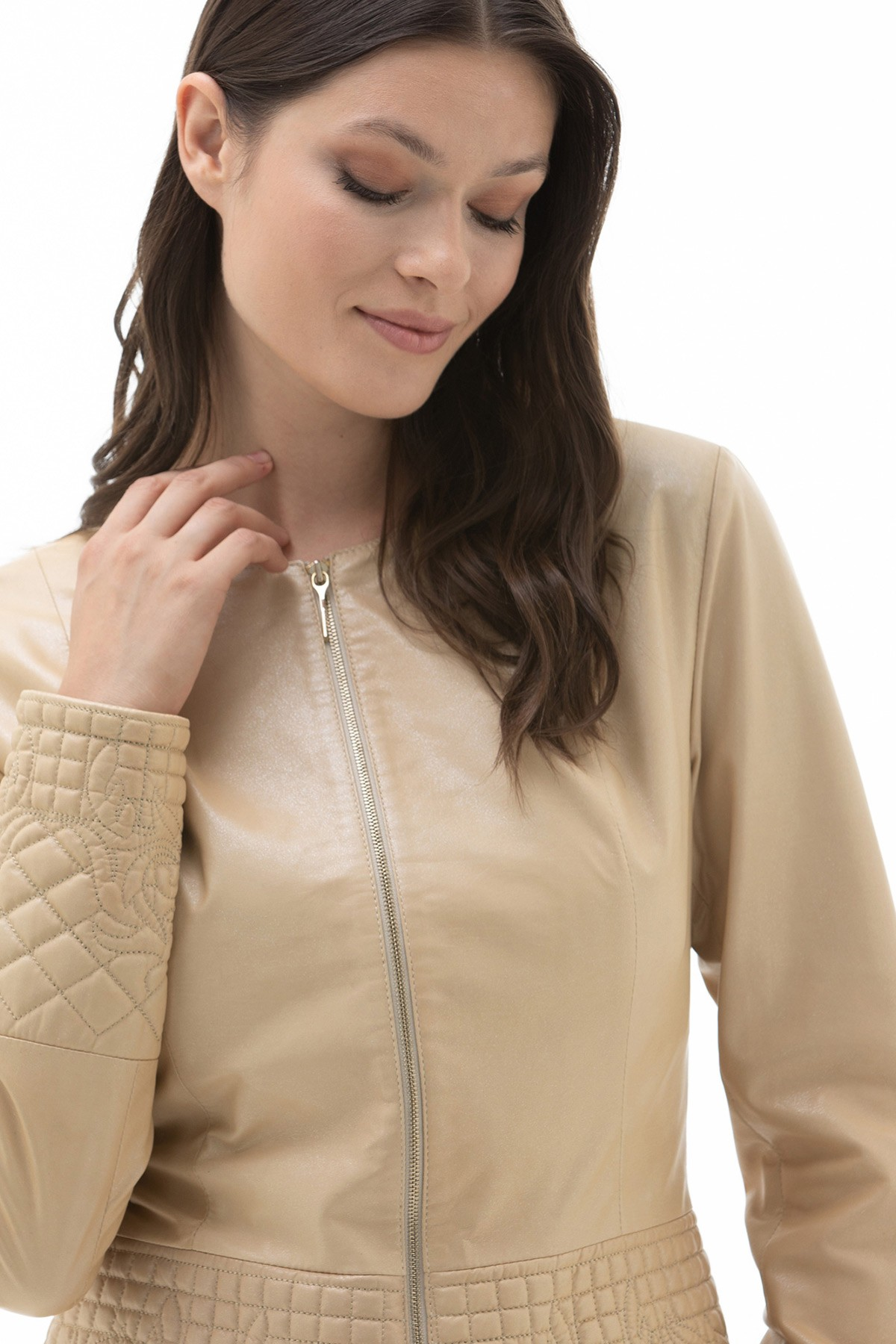 Womens Wine Leather Jacket