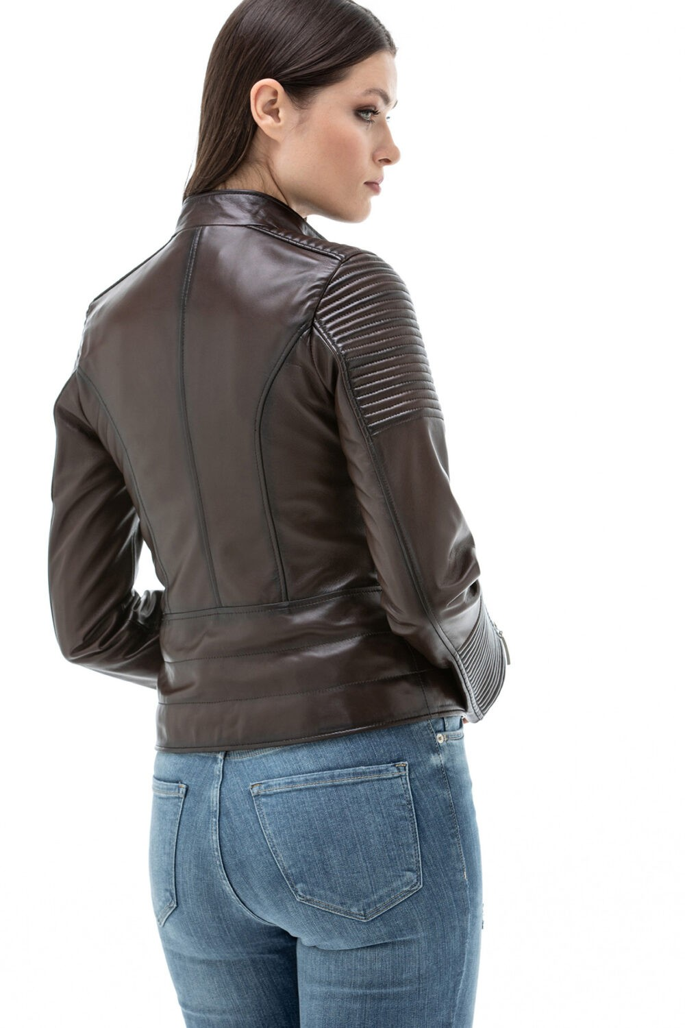 Real Lamb Leather Biker Jacket