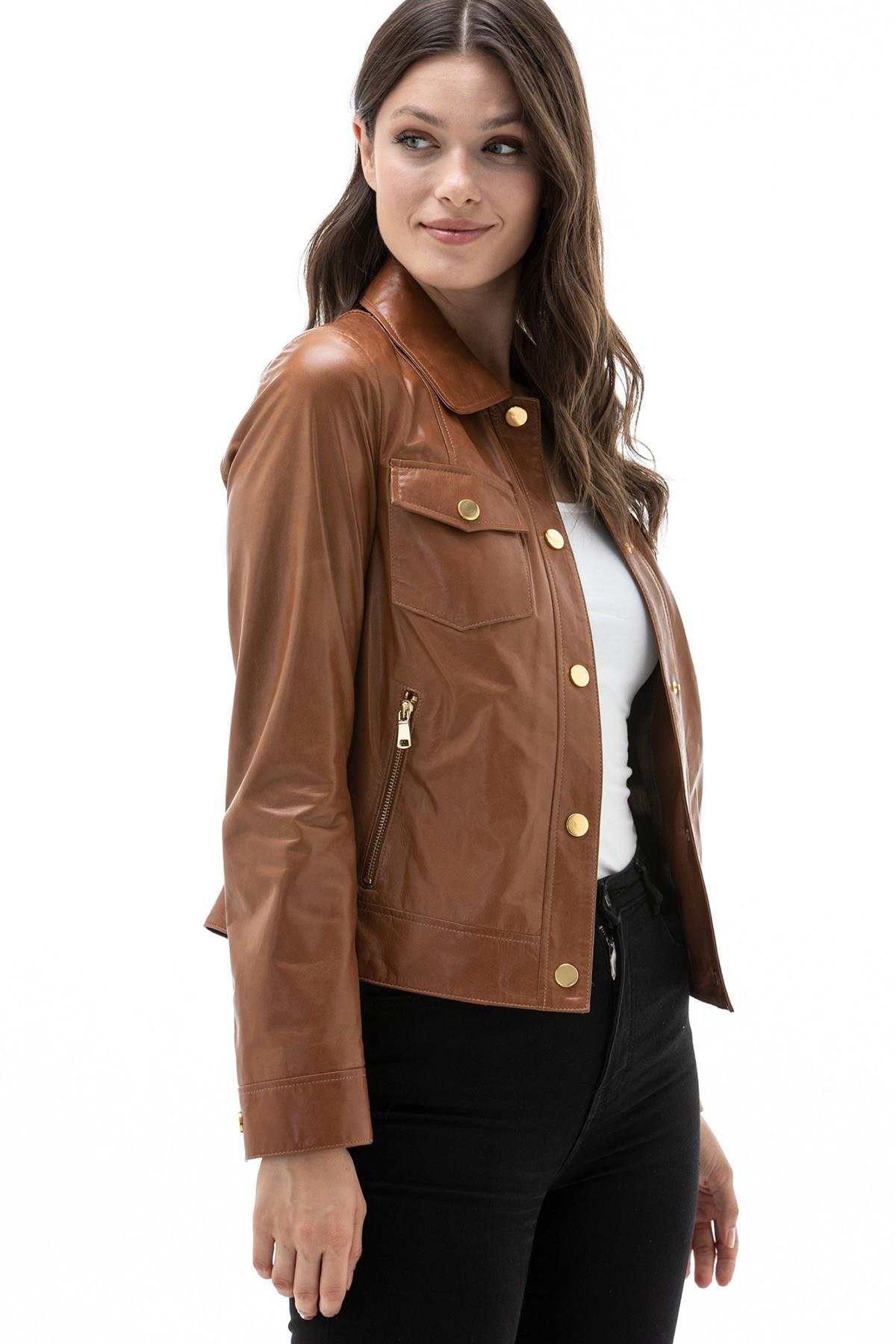 Ladies Brown Leather Jackets