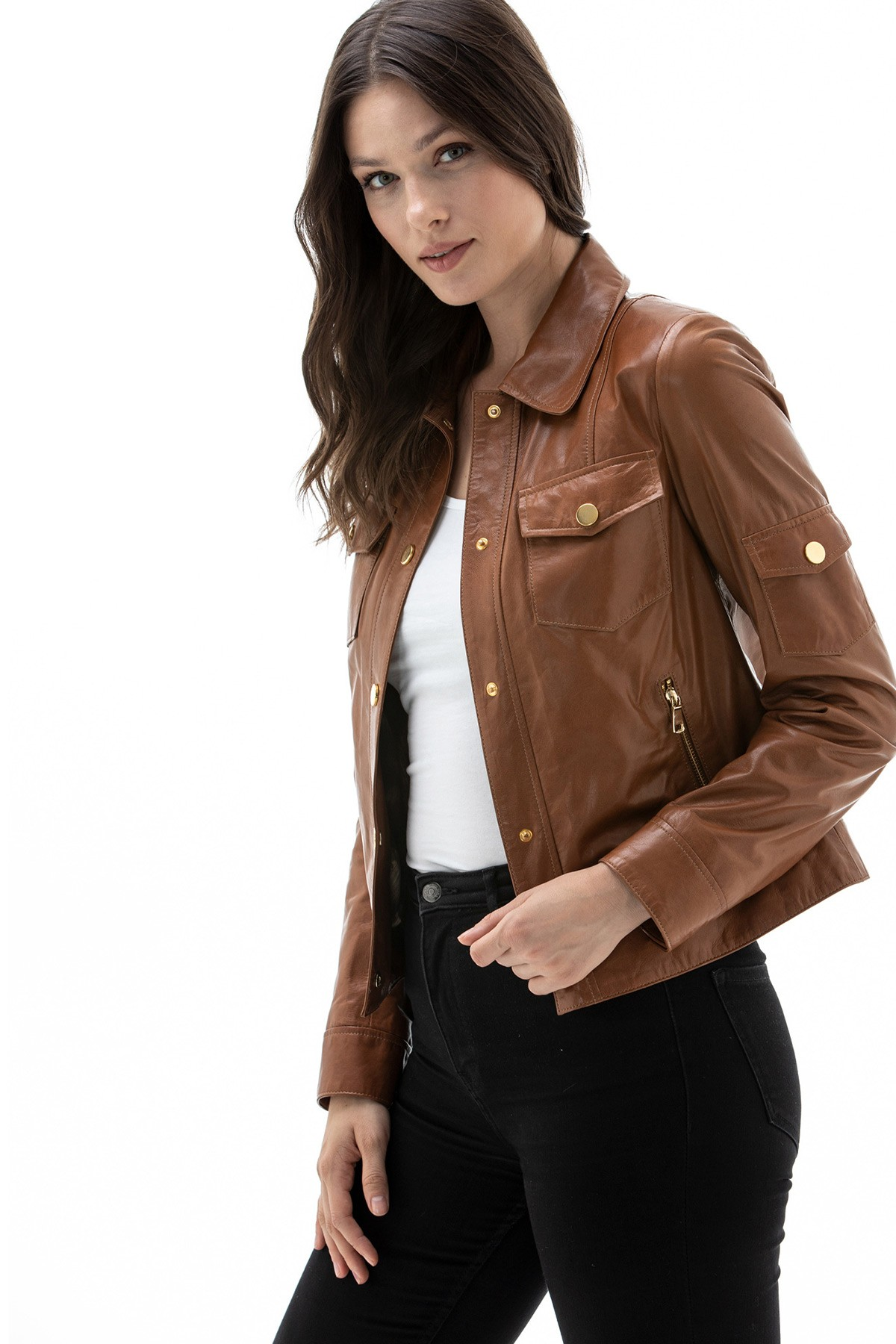 Dunhill Brown Leather Jacket