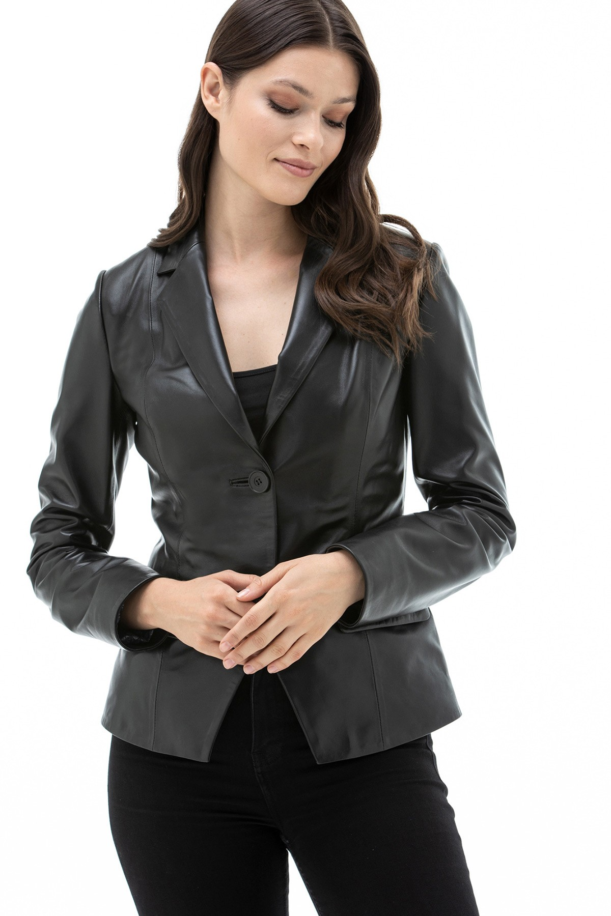 Real Quilted Leather Biker Jacket