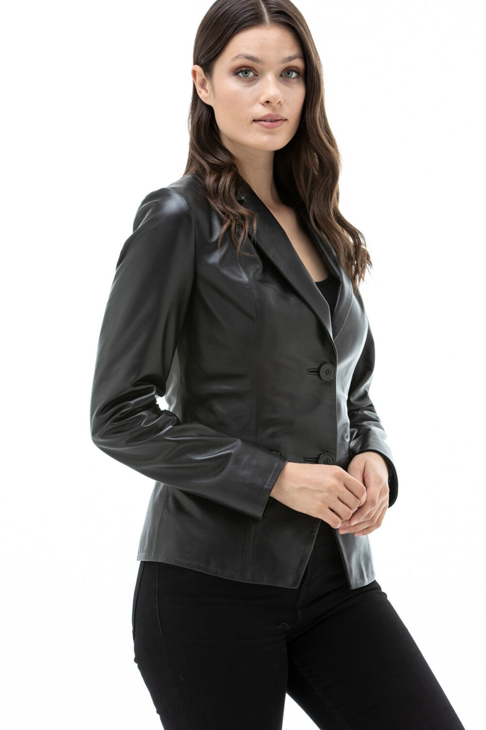 Womens Quilted Lambskin Leather Jacket
