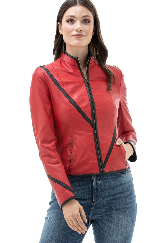 Fendi Red Leather Jacket