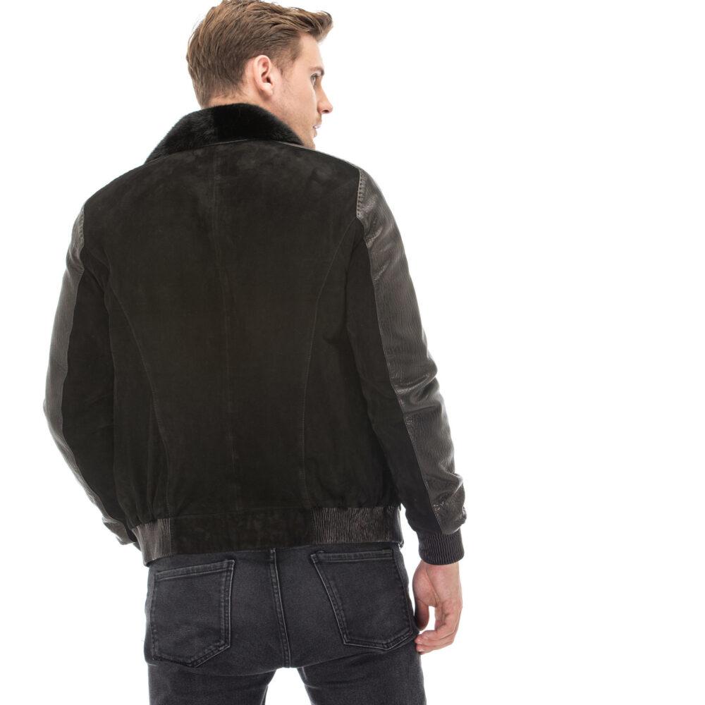 Men's Black Jumbo Suede Jacket