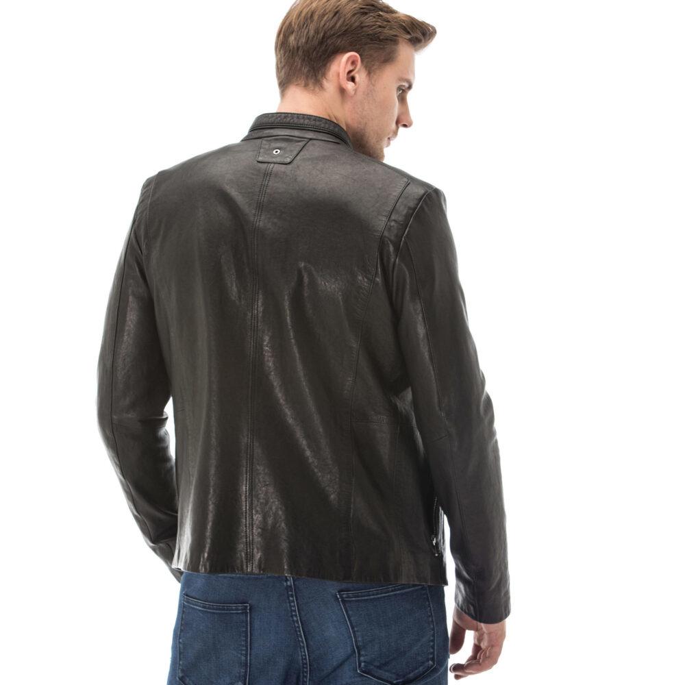 Shearling Aviator Jacket Mens Black