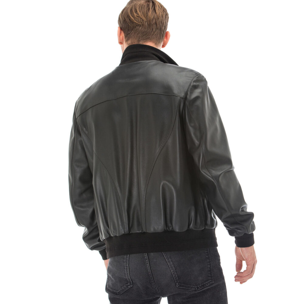 Real Leather Aviator Jacket Mens